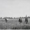 German surveyors at the future construction site of IG Farben at Auschwitz in 1940. Collection: Hans Citroen