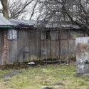 Sanitair barak van het concentratiekamp Monowitz. Collectie Hans Citroen