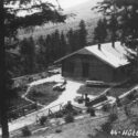 The resort SS-Hütte Soletal photographed by Höcker, adjutant to camp commander Höss. Collection: United States Holocaust Memorial Museum