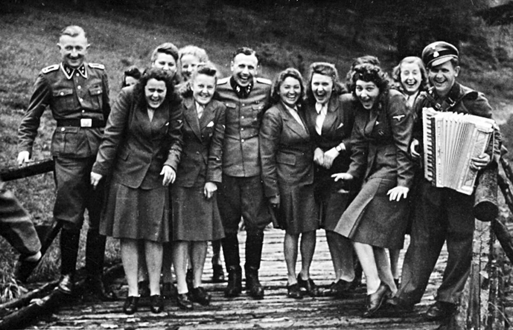 SS women and leaders of the SS during a long weekend in the SS-Hütte Soletal. Collection: United States Holocaust Memorial Museum