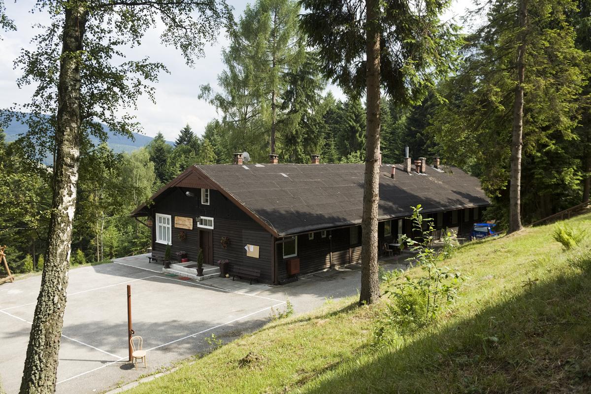 Kantine van het vakantiepark in międzybrodzie in 2007. Collectie:Hans Citroen
