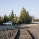 Restanten van de in 1944 aangelegde spoorverbinding tussen Bahnhof West en kamp Auschwitz II-Birkenau. 2005-2006. Collectie: Hans Citroen