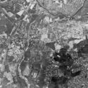Allied aerial photograph of the area around the town of Auschwitz in June 1944.