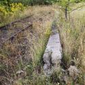 Treinsporen van de Judenrampe. Collectie: Hans Citroen