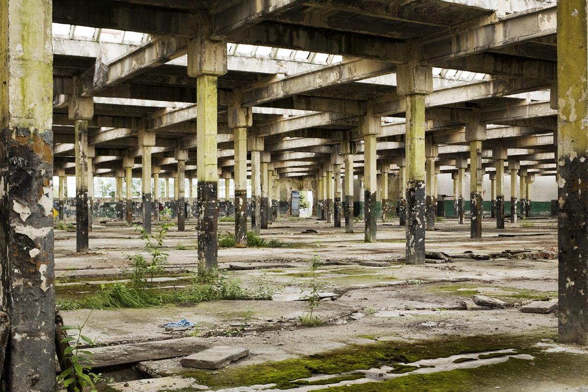 Voormalige fabriekshal van Krupp in 2008. Collectie: Hans Citroen