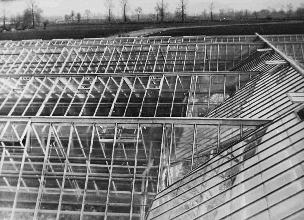 Productielandbouw in en rond Rajsko, ten zuiden van Auschwitz-Birkenau. Bron: Yad Vashem
